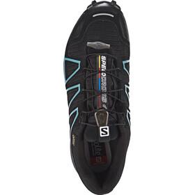 Salomon Speedcross 4 GTX Zapatillas Mujer, black/black/metallic bubble blue